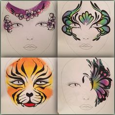 Ideas for Face Painting board!