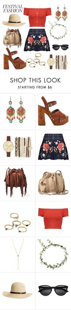 """""""Festival fashion"""" by vintagedaisy1 ❤ liked on Polyvore featuring WithChic, Lucky Brand, Jessica Carlyle, Haute Hippie, Diane Von Furstenberg, Alice + Olivia, Rebecca Minkoff and Rip Curl"""