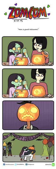 Zomcom: Have a gourd Halloween by emi-ku.deviantart.com on @DeviantArt