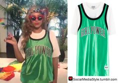 """Buy Beyonce's Green """"Girl Power"""" Jersey, here!"""