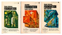 To celebrate the news that HBO and Jonathan Nolan (brother and collaborator of Christopher Nolan) are planning to adapt Isaac Asimov's classic Foundation series, here are a bunch of awesome old covers from the books: Foundation Series, Forever Foundation, Fantasy Book Covers, Best Book Covers, Fantasy Words, Science Fiction Authors, Book Wallpaper, Good Doctor, Libros