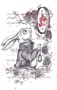 a10ac146fa8 Items similar to White Rabbit 8 x 10 Signed Print on Etsy