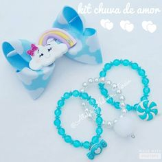 Little Girl Jewelry, Kids Jewelry, Jewelry Making, Bow Necklace, Diy Hair Accessories, Diy Earrings, My Baby Girl, Little Princess, Diy Hairstyles