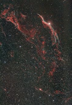 Veil Nebula Witch's Broom and Pickering Triangle by ramviswanathan, via Flickr