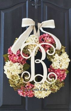 Hey, I found this really awesome Etsy listing at https://www.etsy.com/listing/182213040/hydrangea-wreath-spring-wreath-for-mom