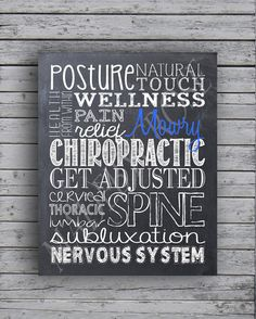 Personalized Chalkboard Chiropractic Subway Art by MadeByCRose