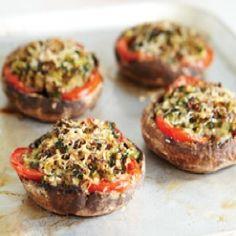 Healthy recipe stuffed mushrooms