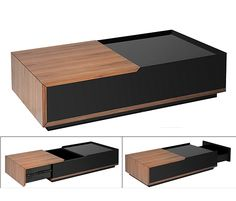 Coffee Table with Drawer . Smart Furniture, Space Saving Furniture, Unique Furniture, Table Furniture, Furniture Design, Centre Table Design, Wood Table Design, Coffee Table Design, Centre Table Living Room