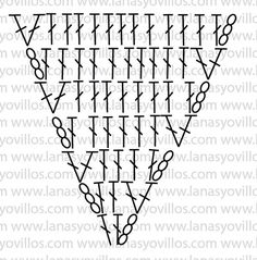 Diy Crafts - Video Tutorial Crochet the number of pieces of the pictureChart of each pieceFull diamond Crochet Triangle, Granny Square Crochet Pattern, Crochet Mandala, Crochet Diagram, Crochet Chart, Crochet Squares, Crochet Granny, Crochet Motif, Crochet Stitches