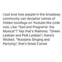 "WHAT EVEN IS A RUSSIA????? or my personal favourite, ""neither natasha nor pierre, and certainly not a great comet of 1812"""