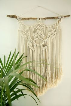 Boho Wall Hanging, Macrame Art, Weaving Art, Wall Decor, Wall Art, Wall Tapestry, Boho Tapestry, Design Crafts, Boho Decor