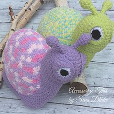 """Winston"" the Snail Pillow Buddy by Accessorize This Designs"