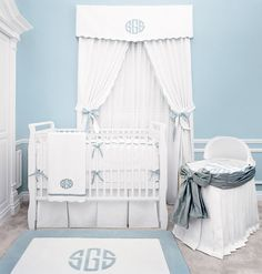 now this is a nursery - although idk if I can bring myself to use this much carolina blue...