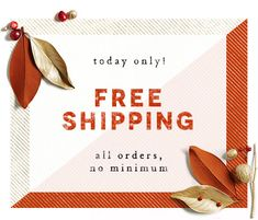 Free shipping on all orders, no minimum. Sale Banner, Web Banner, Banners, Email Design Inspiration, Creative Inspiration, Anthropologie Sale, Email Marketing Design, Newsletter Design, Social Media Design