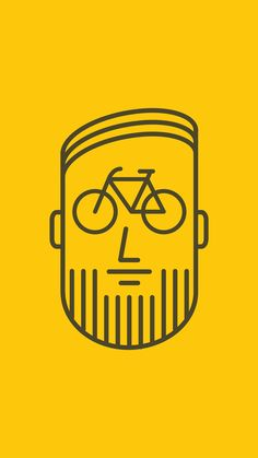 ↑↑TAP AND GET THE FREE APP! Art Creative Head Cyclists Beard Minimalism Minimalistic Hair Bicycle HD iPhone 6 plus Wallpaper