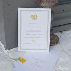 Faire-part de mariage traditionnel ALEXANDRA ET ROMAIN. Signée par notre atelier…