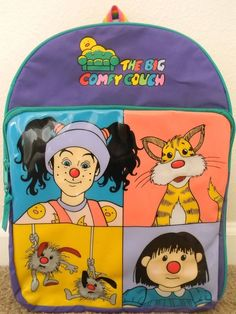 The Big Comfy Couch BACKPACK Bag Loonette Molly Dust Bunnies Snickerfitz #TheBigcomfyCouch $59.99 Nostalgia........ 1990s Toys, The Big Comfy Couch, Childhood Memories 90s, Vintage Cartoons, Games For Kids, Kid Games, Remember The Time, Oldies But Goodies, Ol Days
