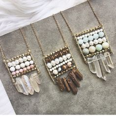 Bohemian beaded pendants designed by Mary Gibson