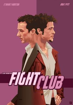 """Fight Club"" (1999) directed by David Fincher, starring Brad Pitt,Edward Norton  Helena Bonham Carter"