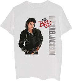 c2e95d6b400 Our Michael Jackson t-shirt features the Bad album cover artwork. Released  on August