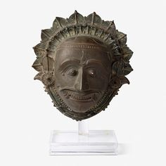 A COPPER ALLOY MASK OF JUMANDI OR JARANDAYE, South Canara, 19th Century CE,Live Auction, Mumbai, December 17, 2014