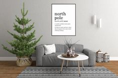 Excited to share this item from my #etsy shop: North Pole Definition Print // Printable Wall Art // Digital Instant Download