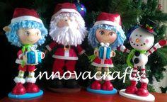 Fofuchos navideños, Santas, duendes, muñecos de nieve y galletitas de jengibre !!