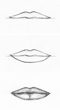 how to draw faces lips