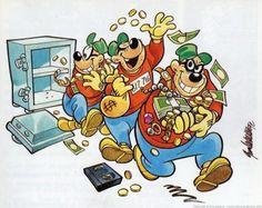 I ladri fanno ridere solo nei fumetti!