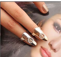 2015 Fashion Hollow Heart Lady Nail Ring