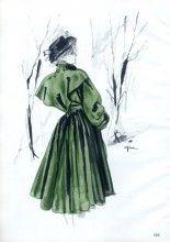 Mad Carpentier 1945 Winter Coat, René Gruau