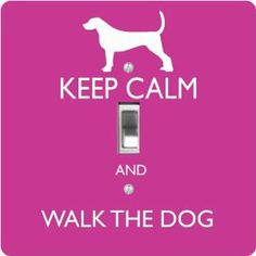 "Rikki KnightTM Keep Calm and Walk the Dog - Pink Rose Color - Single Toggle Light Switch Cover by Rikki Knight. $13.99. The Keep Calm and Walk the Dog - Pink Rose Color single toggle light switch cover is made of commercial vibrant quality masonite Hardboard that is cut into 5"" Square with 1'8"" thick material. The Beautiful Art Photo Reproduction is printed directly into the switch plate and not decoupaged which make these Light Switch Plates suitable for use in any..."