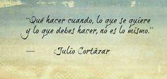 Julio Cortazar..Nunca se que hacer...