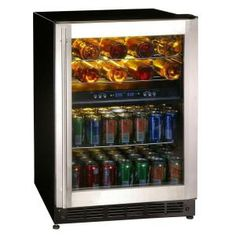Magic Chef, 16-Bottle / 77 Can Dual-Zone Wine and Beverage Cooler, MCWBC77DZC at The Home Depot - Tablet