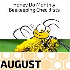 #August is hot and humid. Check out this month's #HoneyDo #Beekeeping checklist here: https://www.beepods.com/honeydo/honey-do-beekeeping-checklist-august/ #beekeepingchecklist