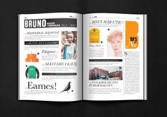 BRUNO Magazine #2–2011 by Morris Pinewood Stockholm, via Behance
