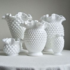 I LOVE hobnail milk glass.