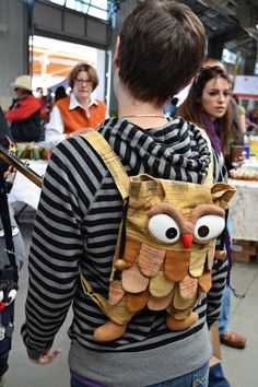i love this owl backpack