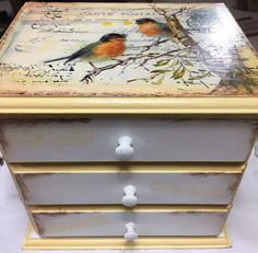 (1) Vendo Caja Con 3 Cajones En Mdf - $ 375,00 en Mercado Libre