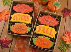 Autumn fall Thanksgiving cookies