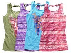 arizona tie-back tank tops