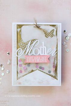 Mothers Day Shaker Card - Use vellum instead of acetate as a card front for a shaker card to achieve a soft, dreamy look!