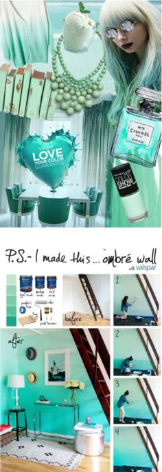 DIY Ombre Wall  Here is a simple to follow tutorial on how to get a fantastic looking ombre wall. Just follow the directions for a very stylish look.