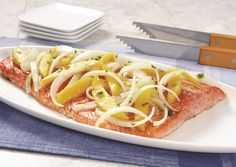Grilled Wild Salmon with Citrus-Kissed Mangos and Vidalia Onions