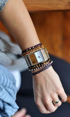 Boho studded bracelets and wrist fashion #FriendshipBracelet #Bracelet #StackedBracelet #Boho #Bohemian