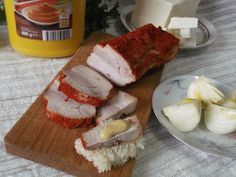 Hellena ...din bucataria mea...: Slanina fiarta in zeama de varza Meat, Home, Pork