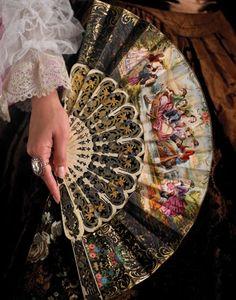 era fan, vintage fans, beauti fan, victorian fan, parasol