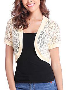ec6c452ac8c7a RM Fashions Womens Plain Long Sleeves Front Tie Knot Shrug Stretchy Bolero  Cardigan Top (Small - 3XL) at Amazon Women s Clothing store