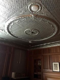 These beautiful #tinceilings were installed at Clinton Community College in Plattsburgh, #newyork for the President's Board Room. Tin Ceilings, Community College, Art Deco Fashion, Home Remodeling, Victorian, Interior Design, Board, Room, Beautiful