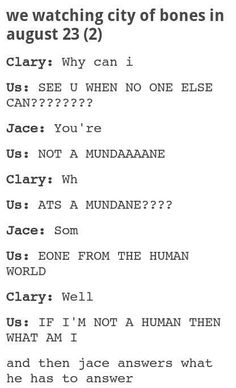ME when watching the city of bones in august. haha seriously though!